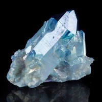 """3.4"""" Iridescent Blue Dazzling AQUA AURA QUARTZ Terminated Crystals ARK for sale"""