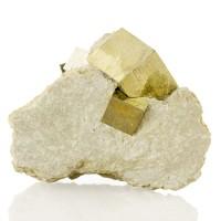 "3.6"" Marl Matrix 4Near-Perfect Sharp 1.7"" PYRITE Crystals Navajun Spain for sale"