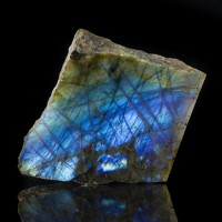 "4.3"" 2LB PEACOCK BLUE LABRADORITE Amazingly Iridescent Flash Madagascar for sale"