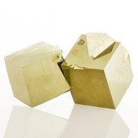 """4.2"""" Almost Perfect SPANISH PYRITE 7 Brassy Gold Cubes to 2.6"""" Navajun for sale"""