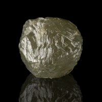 2.33ct 7.2mm Greenish Dodecahedral DIAMOND CRYSTAL Uncut Gemstone Congo for sale