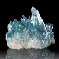 """3.5"""" Iridescent Blue Dazzling AQUA AURA QUARTZ Terminated Crystals ARK for sale"""