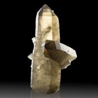 "4.6"" Sharp Gem Clear SMOKY QUARTZ Terminated Crystals Mont Blanc France for sale"