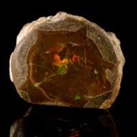 """1.4"""" 125ct Gem Quality FIRE OPAL Nodule w-Fiery Play of Colors Ethiopia for sale"""