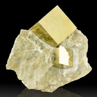 """4.4"""" CUBIC PYRITE 2 CRYSTALS to 2.4"""" in Matrix Sharp Shiny+Bright Spain for sale"""