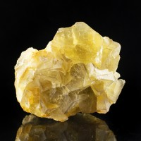 """3.9"""" YELLOW FLUORITE Translucent Cubic Crystals w-Gray Phantoms France for sale"""