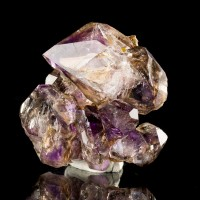 "2"" Hoppered Skeletal Royal Purple AMETHYST CRYSTAL on Matrix Zimbabwe for sale"