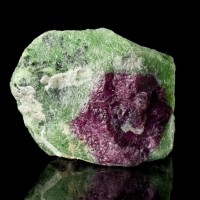 "2.1"" 99g Red Ruby Crystal in Green Zoisite WATERMELON RUBY Tanzania for sale"