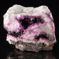 """1.9"""" Violet Purple ROSELITE Crystals in Vugs in White Matrix Morocco for sale"""