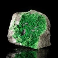 "2.5"" Super Sparkly Super Saturated VividGreen UVAROVITE Crystals Russia for sale"