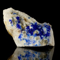 """2.8"""" LINARITE Royal Blue Crystals in Vugs in Quartz Bingham New Mexico for sale"""