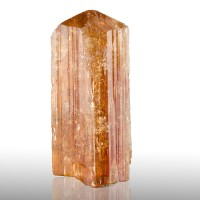 """1.9"""" 146ct IMPERIAL TOPAZ Gem Orange-Pink Crystal Brazil Old Collection for sale"""