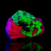 "2.2"" Fluorescent WILLEMITE v.Troostite Crystal New Jersey OldCollection for sale"