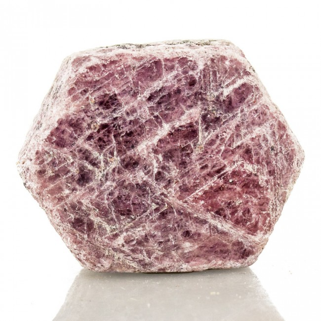 "1.8"" 367ct Cranberry Red Barrel Shape RUBY Crystal with RECORD KEEPERS for sale"