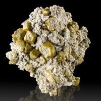 """2.4"""" Shiny Olive Brown VESUVIANITE Crystals in Matrix Lake Jaco Mexico for sale"""