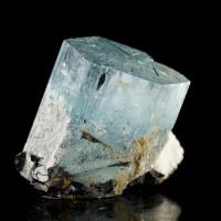"1.0"" Vibrant Aqua Blue Gem Clear AQUAMARINE Terminated Crystal Namibia for sale"