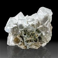 "3.4"" Shiny Wet-Look WaterClear Gem FLUORITE Crystals Jaimina Mine Spain for sale"