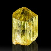 ".9"" Terminated Glistening Gemmy Yellow Golden APATITE Crystal Mexico for sale"
