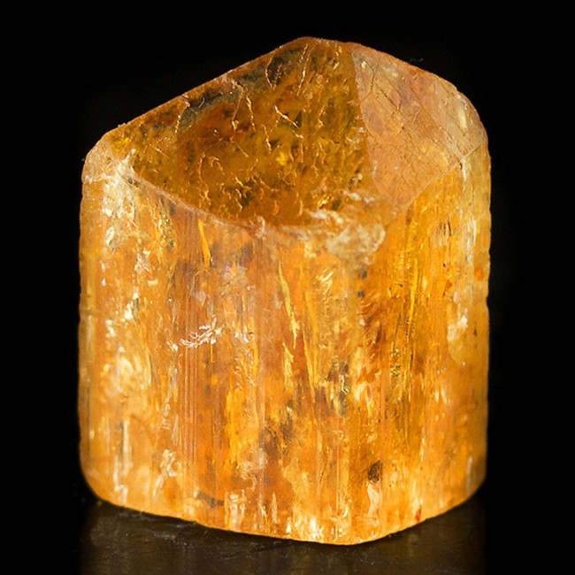 ".6"" 17ct Terminated Gem IMPERIAL TOPAZ Tangerine Orange Crystal Brazil for sale"