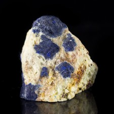 """1.6"""" Blue LAZURITE Crystals LAPIS LAZULI on White Marble Afghanistan for sale"""