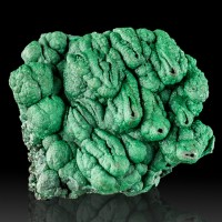 "3.4"" Cluster of Hollow Dark Green MALACHITE STALACTITE with Slits Congo for sale"