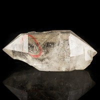 "2.8"" Double Terminated Clear ENHYDRO QUARTZ Crystal with Bubble China for sale"