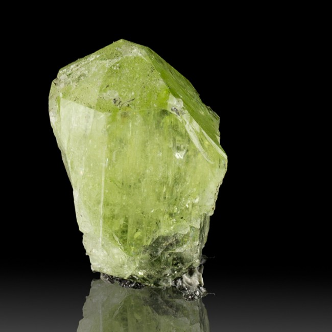 "1.2"" 76.1ct Translucent Lime Green DIOPSIDE Terminated Crystal Tanzania for sale"