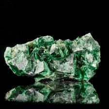 """4.9"""" Sharp Glassy BLUE-GREEN FLUORITE Crystals to 1.4"""" Rogerley Mine UK for sale"""