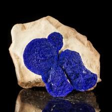 "2.9"" AZURITE SUNS Royal Blue Crystal Discs on SiltstoneMatrix Australia for sale"