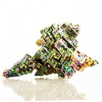 """3.4"""" BISMUTH Fine Bright Rainbow Kaleidoscope Hoppered Crystals Germany for sale"""