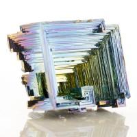 "2.9"" Metallic BlueMagentaSilver BISMUTH Shiny Hoppered Crystals England for sale"