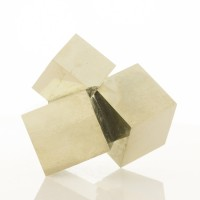 """3.5"""" Group of 3 Sharp Cubic Brassy Gold PYRITE CRYSTALS to 2.3"""" Spain for sale"""