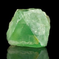 """1.4"""" Jelly Bean GREEN FLUORITE Octahedral Crystal William Wise Mine NH for sale"""