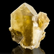 "3"" Sharp Lustrous Translucent GOLDEN BARITE Crystals with Gemmy Interior France"