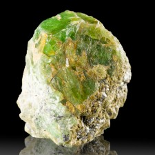 "1.4"" Rich Grass Green TSAVORITE GARNET Shiny Crystal Merelani Tanzania for sale"