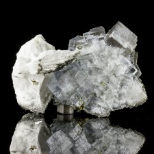 """2.2"""" Glassy Clear Gem Cubic FLUORITE Crystals+Chalcopyrite+Barite Spain for sale"""