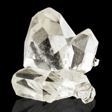 """.9"""" Cluster of 5 Water Clear HERKIMER DIAMONDS Gem Crystals New York for sale"""