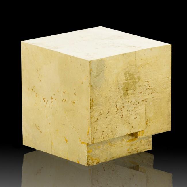 "2"" Spanish CUBIC PYRITE Penetrating Twin Flashy Golden Crystals Navajun for sale"