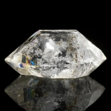 """1.1"""" Water Clear HERKIMER DIAMOND Terminated Crystal +Anthraxolite NY for sale"""