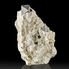"3.6"" Black MAGNETITE 5 Octahedral Crystals to .8"" in Matrix Australia for sale"