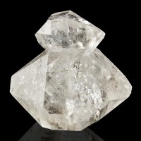 "1.4"" Clear Gemmy HERKIMER DIAMOND QUARTZ Cluster 2 Crystals to 1.3"" NY for sale"