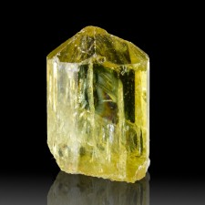 """.9"""" Sharp Lustrous Clear Gemmy GOLDEN APATITE Terminated Crystal Mexico for sale"""