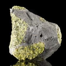 "5"" Rich GREEN PERIDOT Crystals in Basalt San Carlos Reservation Arizona for sale"