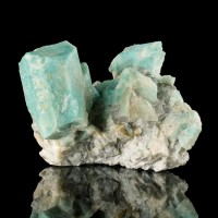"""4.1"""" Lustrous AMAZONITE Crystal Cluster Rich Turquoise Color Colorado for sale"""