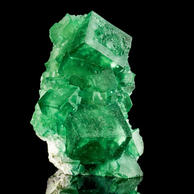 "2.8"" GREEN PHANTOM FLUORITE Cubic Crystals from New Find in Madagascar for sale"