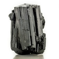 "2.4"" Flashy Shiny Jet Black SCHORL TOURMALINE Striated Crystals Namibia for sale"