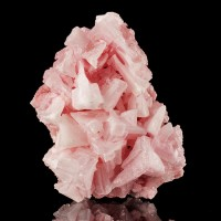 """3.7"""" Very Sharp PINK HALITE Deeply Hoppered Crystals Stable California for sale"""