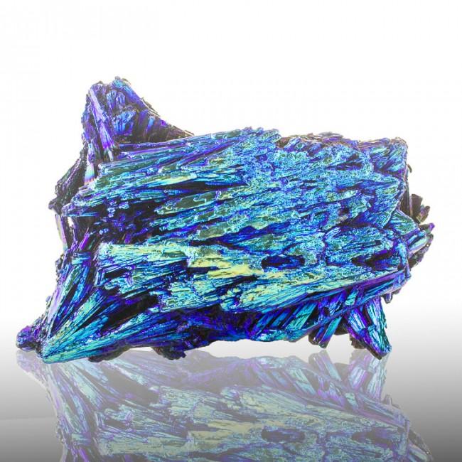 "3.1"" Neon Turquoise Blue AQUA AURA KYANITE Iridescent Crystals Brazil for sale"