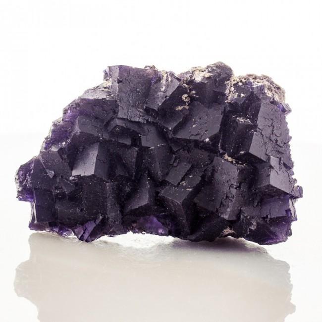 """3.8"""" Deep RoyalPurple FLUORITE Sharp Cubic Crystals Minerva #1 Illinois for sale"""