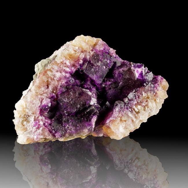 "6.2"" Purple Violet FLUORITE Sharp Cubic Crystals Minerva Mine Illinois for sale"